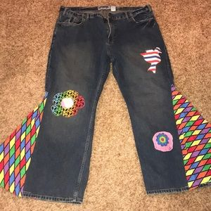 """Old Navy colorful """"hippy jeans"""" 🍄"""